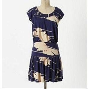 Anthropologie Short Sleeve  Waist Dress Size S